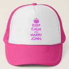 Behalten Sie ruhig und heiraten Sie John-Hut Truckerkappe