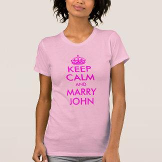 Behalten Sie ruhig und heiraten Sie John-Shirt