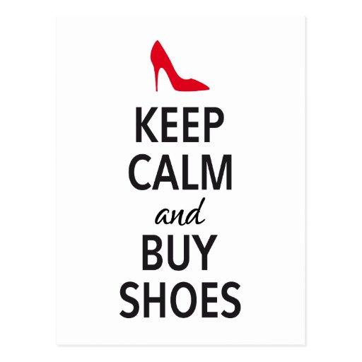 Behalten Sie ruhig und kaufen Sie Schuhe, Wortkuns Postkarten