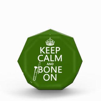 Behalten Sie ruhig und 'Knochen auf (Trombone - Acryl Auszeichnung