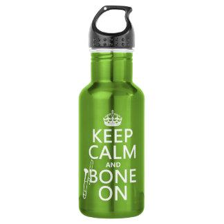 Behalten Sie ruhig und 'Knochen auf (Trombone - Edelstahlflasche