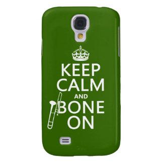 Behalten Sie ruhig und 'Knochen auf (Trombone - Galaxy S4 Hülle