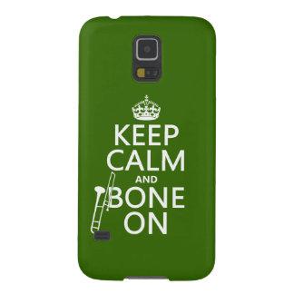 Behalten Sie ruhig und 'Knochen auf (Trombone - Galaxy S5 Hülle