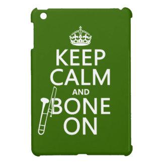 Behalten Sie ruhig und 'Knochen auf (Trombone - iPad Mini Hülle