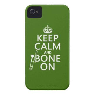 Behalten Sie ruhig und 'Knochen auf (Trombone - iPhone 4 Case-Mate Hüllen
