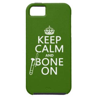 Behalten Sie ruhig und 'Knochen auf (Trombone - iPhone 5 Etui