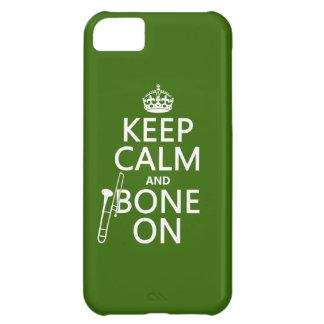 Behalten Sie ruhig und 'Knochen auf (Trombone - iPhone 5C Hülle