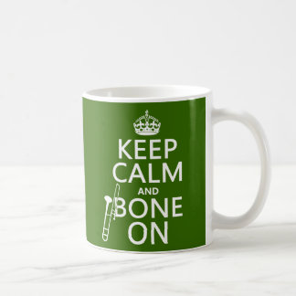 Behalten Sie ruhig und 'Knochen auf (Trombone - Kaffeetasse