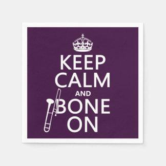 Behalten Sie ruhig und 'Knochen auf (Trombone - Papierserviette