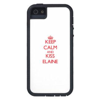 Behalten Sie ruhig und Kuss Elaine Etui Fürs iPhone 5
