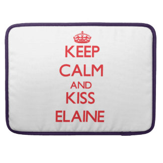 Behalten Sie ruhig und Kuss Elaine Sleeve Für MacBooks