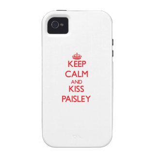 Behalten Sie ruhig und Kuss Paisley Vibe iPhone 4 Hülle