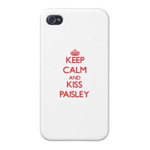 Behalten Sie ruhig und Kuss Paisley Hülle Fürs iPhone 4