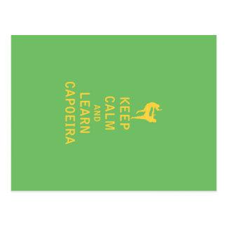 Behalten Sie ruhig und lernen Sie Capoeira Postkarte