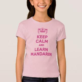 Behalten Sie ruhig und lernen Sie T-Shirt