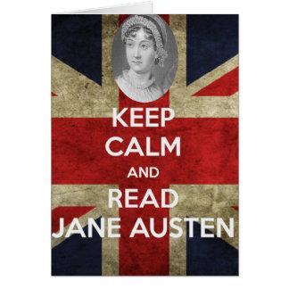 Behalten Sie ruhig und lesen Sie Jane Austen Karte