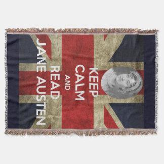 Behalten Sie ruhig und lesen Sie Jane Austen mit Decke