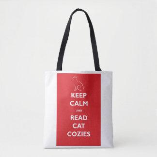 Behalten Sie ruhig und lesen Sie Katze Cozies Tasche