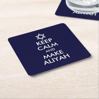 Behalten Sie ruhig und machen Sie Aliyah Rechteckiger Pappuntersetzer