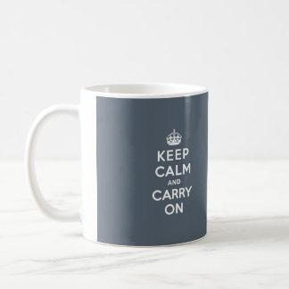 Behalten Sie ruhig und machen Sie Schiefer-Grau Kaffeetasse