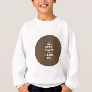 Behalten Sie ruhig und machen Sie Vanille auf Sweatshirt