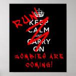 Behalten Sie ruhig und machen Sie Zombie-lustiges  Posterdrucke