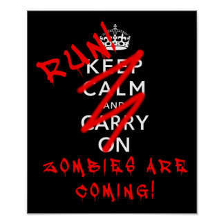Behalten Sie ruhig und machen Sie Zombie-lustiges Poster