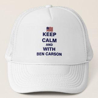 Behalten Sie ruhig und mit Ben Carson Truckerkappe