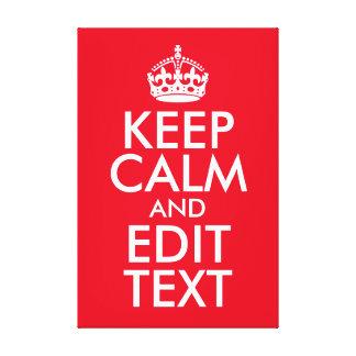 Behalten Sie ruhig und redigieren Sie Text Leinwanddruck