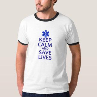 Behalten Sie ruhig und retten Sie die Leben Hemden
