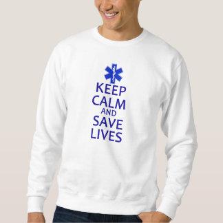 Behalten Sie ruhig und retten Sie die Leben Pullis