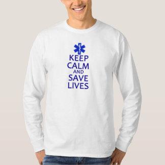 Behalten Sie ruhig und retten Sie die Leben T-Shirt