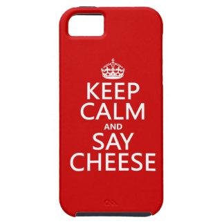 Behalten Sie ruhig und sagen Sie Käse (Fotografie) iPhone 5 Etuis