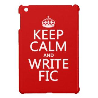 Behalten Sie ruhig und schreiben Sie Fic - alle iPad Mini Hülle
