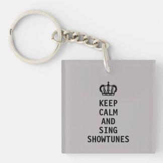 Behalten Sie ruhig und singen Sie Showtunes Schlüsselanhänger