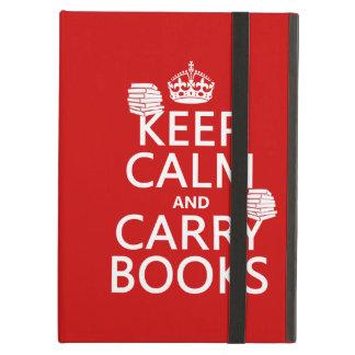Behalten Sie ruhig und tragen Sie Bücher (in