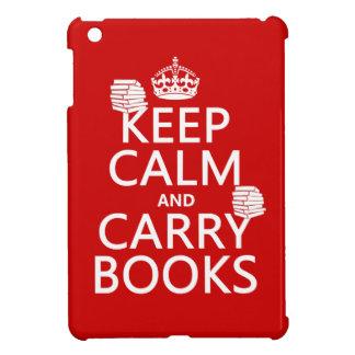 Behalten Sie ruhig und tragen Sie Bücher (in iPad Mini Hülle