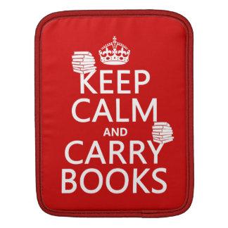 Behalten Sie ruhig und tragen Sie Bücher (in iPad Sleeve