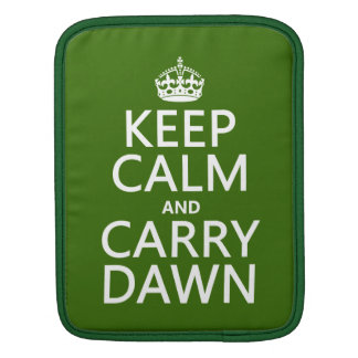 Behalten Sie ruhig und tragen Sie Dämmerung iPad Sleeve