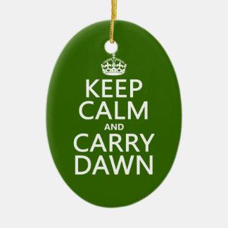 Behalten Sie ruhig und tragen Sie Dämmerung Keramik Ornament