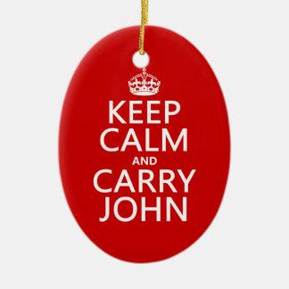 Behalten Sie ruhig und tragen Sie John (irgendeine Keramik Ornament