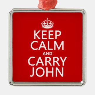 Behalten Sie ruhig und tragen Sie John (irgendeine Silbernes Ornament