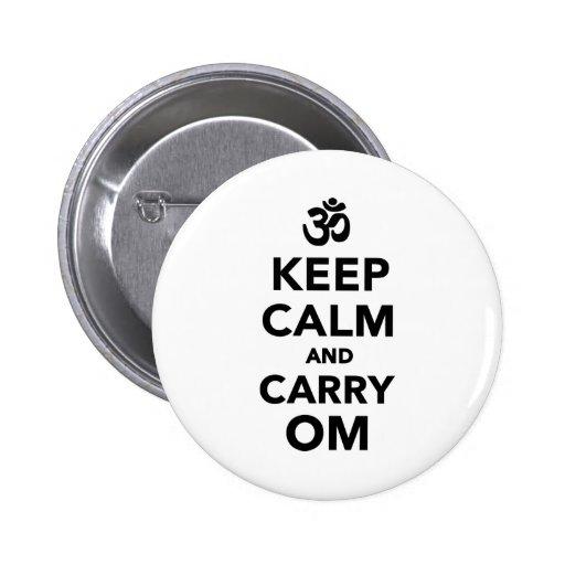Behalten Sie ruhig und tragen Sie OM Button
