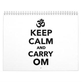 Behalten Sie ruhig und tragen Sie OM Wandkalender