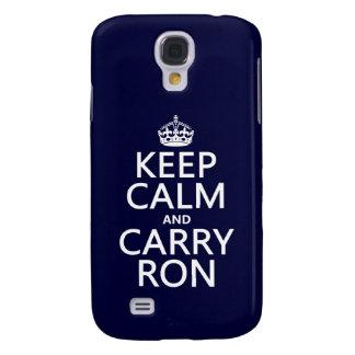 Behalten Sie ruhig und tragen Sie Ron (irgendeine Galaxy S4 Hülle