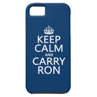 Behalten Sie ruhig und tragen Sie Ron (irgendeine iPhone 5 Case