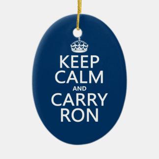 Behalten Sie ruhig und tragen Sie Ron (irgendeine Keramik Ornament