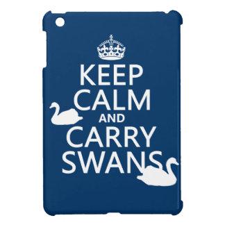 Behalten Sie ruhig und tragen Sie Schwäne - alle iPad Mini Hülle