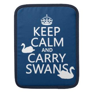 Behalten Sie ruhig und tragen Sie Schwäne - alle Sleeve Für iPads