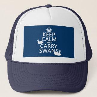 Behalten Sie ruhig und tragen Sie Schwäne - alle Truckerkappe